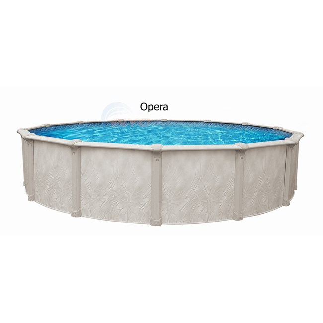 "Wilbar Opera 33' Round 54"" Hybrid Above Ground Pool (Skimmer Included) - POPE3354ASPSRJ1"