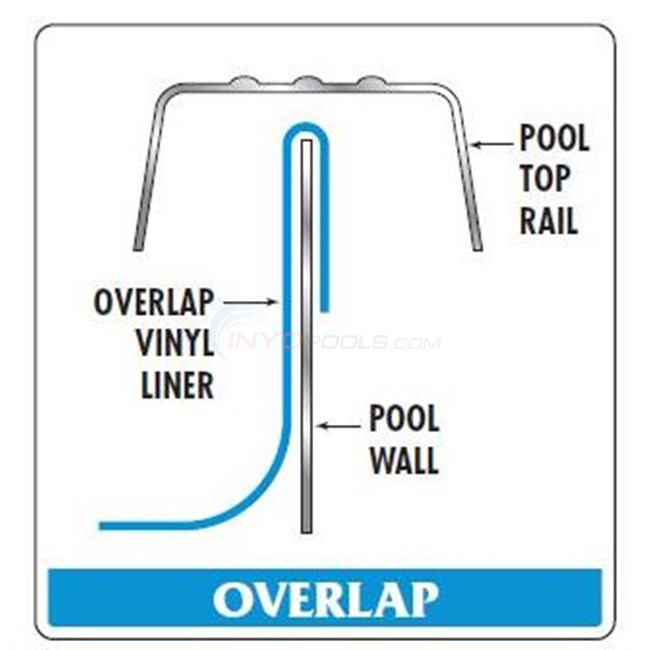 "Swimline 15' x 30' Oval 48""-54"" Depth Overlap All Swirl Standard Gauge Liner - LI1530ASO"