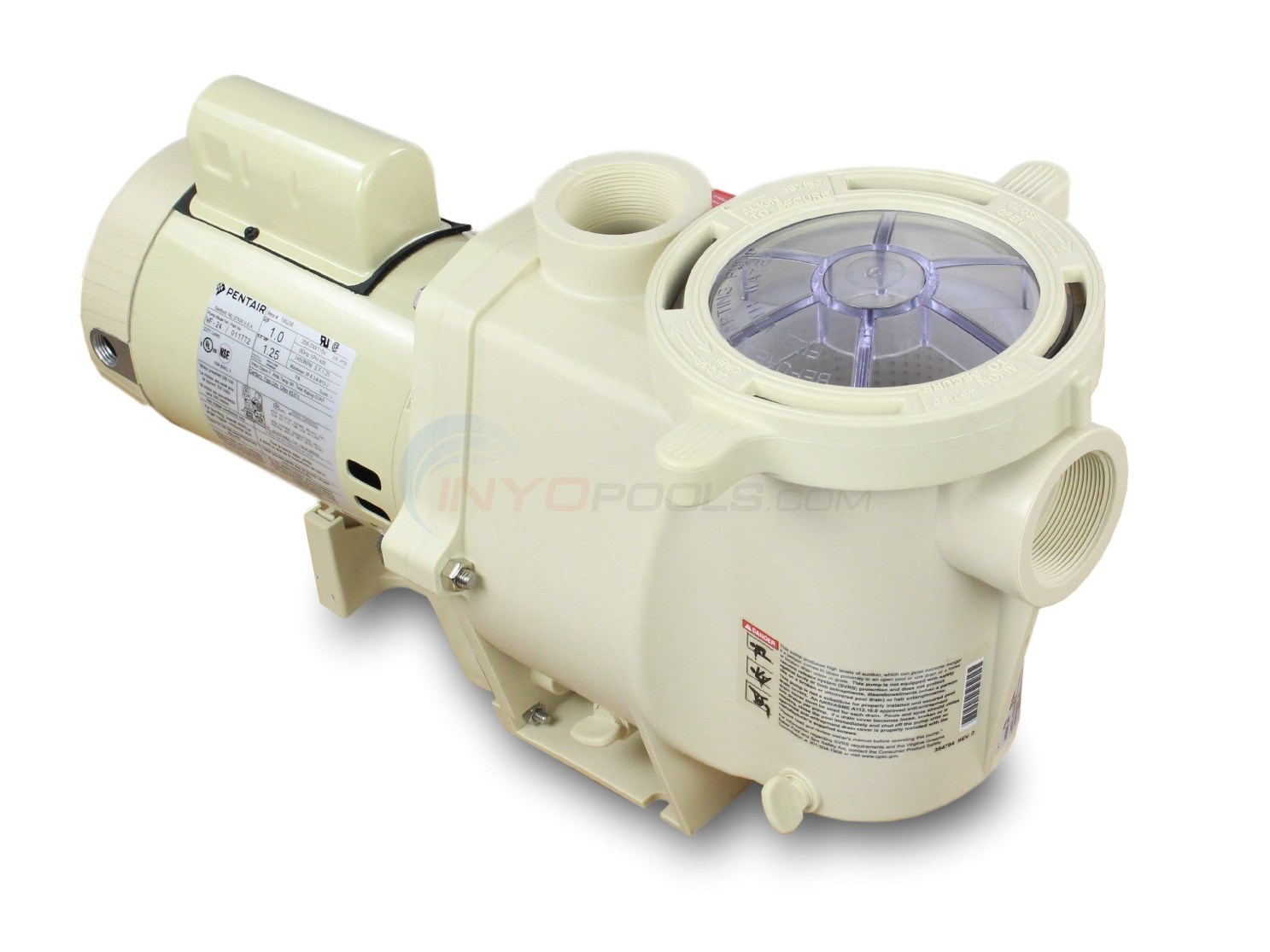 Pentair Whisperflo Pump 1 HP - WF-24