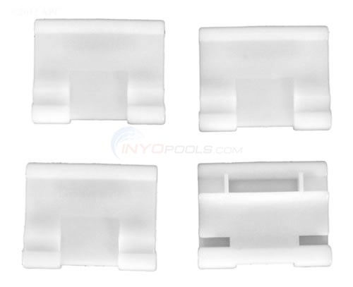Poolvergnuegen Bracket For Skirt, White, Set Of 4 (896584000-419)