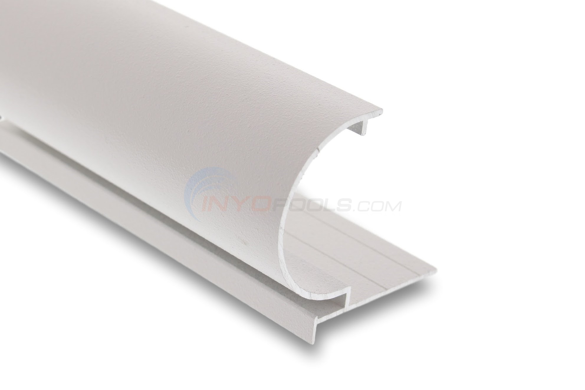 "Cinderella CP-2P Coping 8' Reverse Radius Corner 91"" Long- White Textured - CP2RR0800"