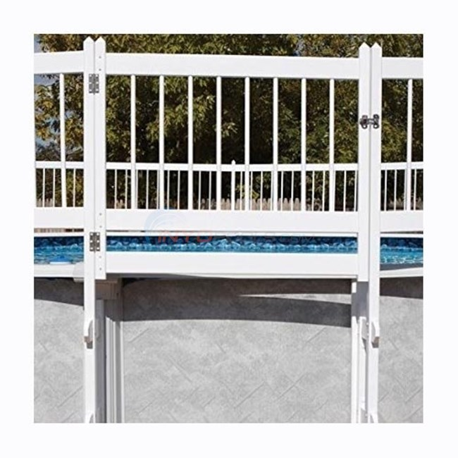 Pureline Resin Pool Fence Gate Section White For Above Ground Pools