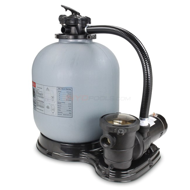 "PureLine 19"" Above Ground Pool Sand Filter System w/ 1 HP Pump - PL1511"