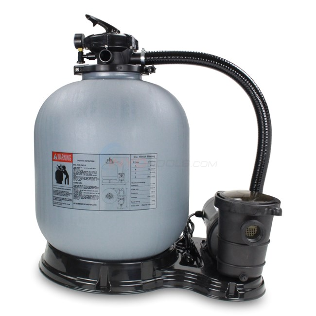 "PureLine 19"" Above Ground Pool Sand Filter System w/ 1.5 H.P Pump - PL1512"