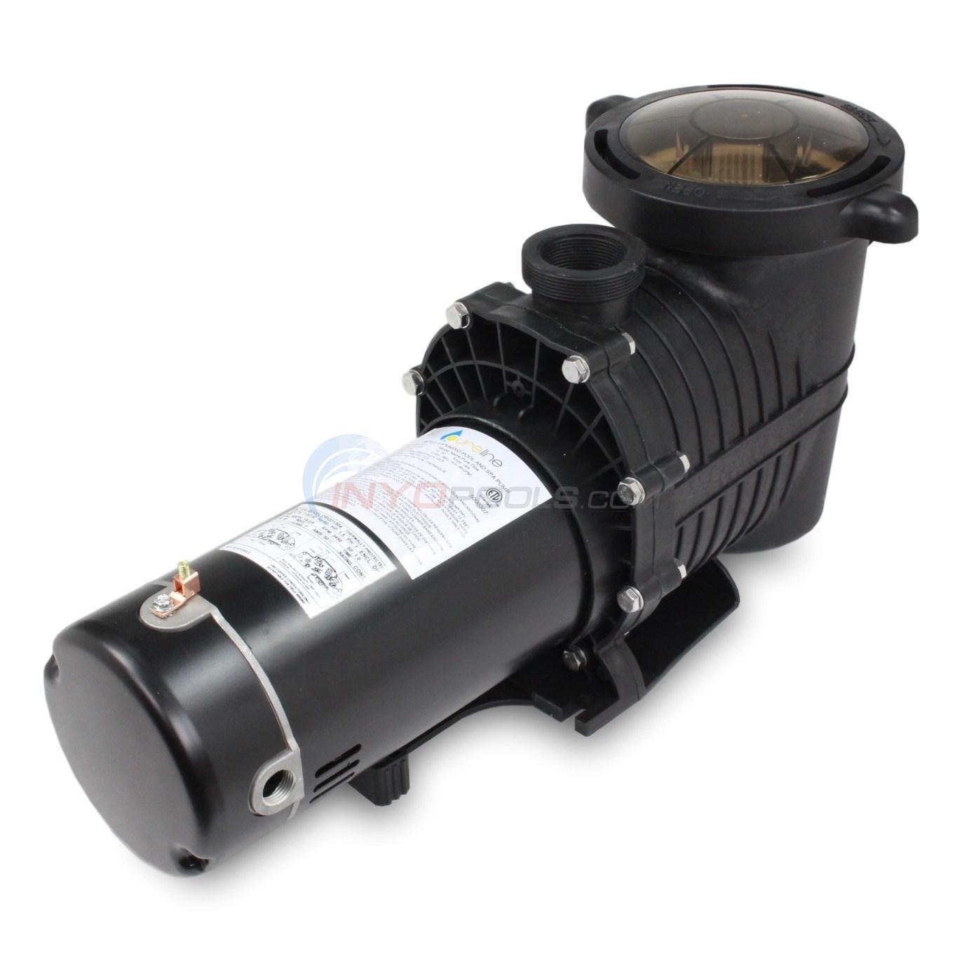 pureline 1 5 h p in ground pool pump pl1601 inyopools com rh inyopools com Intex Pool Pump Wiring Diagram Wiring 220 Volt Pool Pump