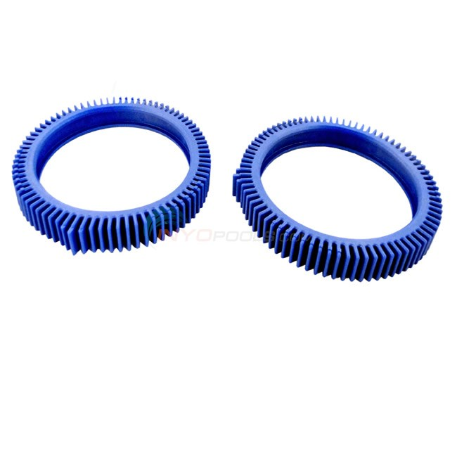 Wheel Tread, Finger Hump, Blue Met (2 pk)