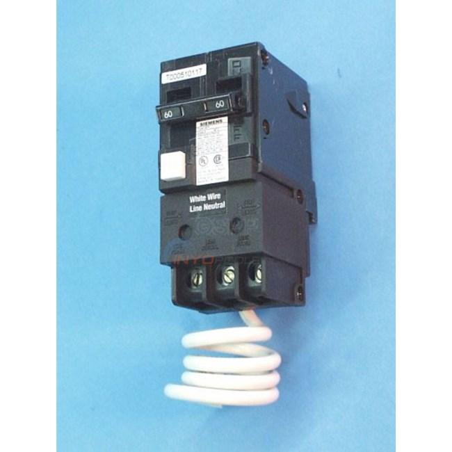 GFCI,Circuit Breaker, 60 Amp - QF260 - INYOPools.com on