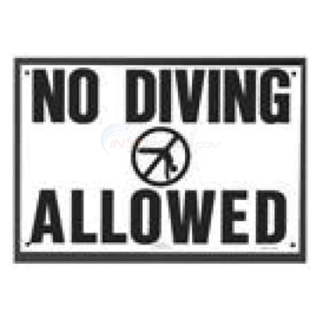 Swimming Pool Safety Sign - No Diving Allowed - NSSSW13 - INYOPools.com