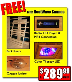 Blue Wave MONTICELLO - 4 Person Infrared Sauna with Carbon Heaters - SA2418