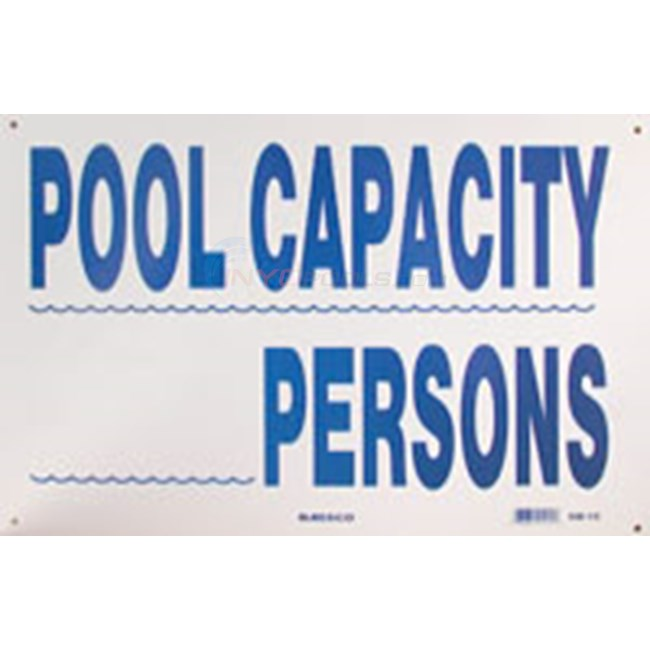 Swimming Pool Sign Pool Capacity Nsssw15
