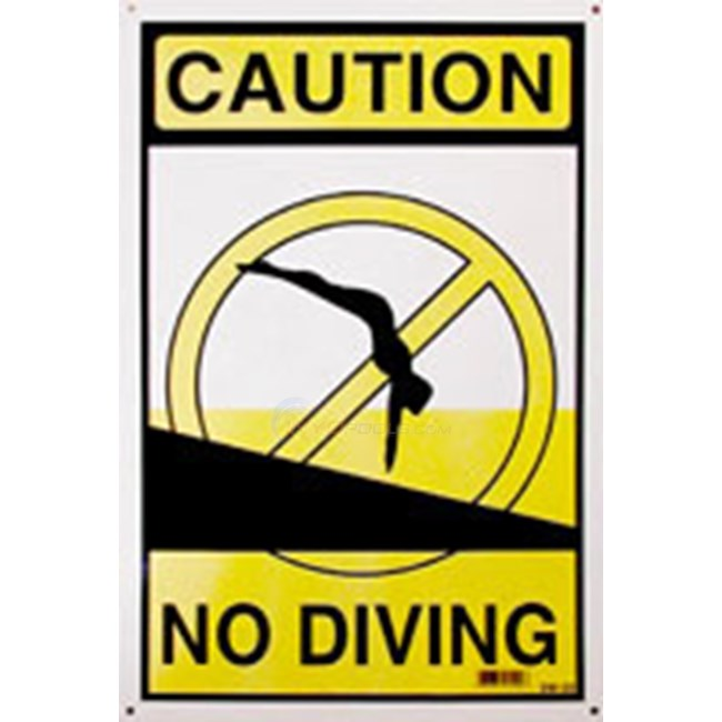 Swimming Pool Sign No Diving Nsssw20