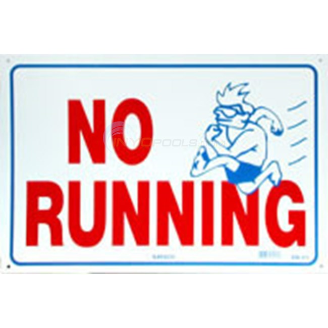 Swimming Pool Sign No Running Nsssw21 Inyopools Com