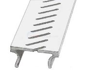 Stegmier Treadmaster Deck Drain Top Cap Only Aluminum Almond 2 - 5' Sections (10 Feet) - ALD-A-NB-5
