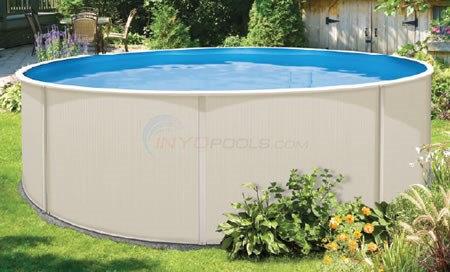 "Sunray 15' Round 48"" Steel Pool W/ Pump, Filter & Liner - CRSUNSND1548-SMN-P"