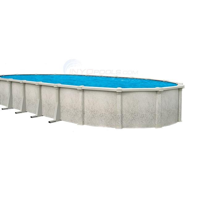 sharkline pools sharkline tahitian 18 39 x 33 39 oval 54 above ground pool w