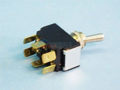 Toggle Switch, Center Off (6 terminal) - TG2-2