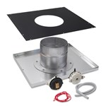 "Indoor Neg. Pressure Vertical 6"" Vent Adapter Kit - H250FD"