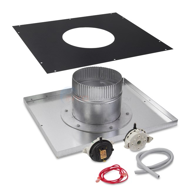 "Hayward Indoor Neg. Pressure Vertical 6"" Vent Adapter Kit - H250FD - UHXNEGVT12501"