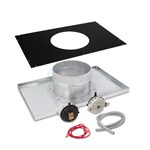 "Indoor Neg. Pressure Vertical 8"" Vent Adapter Kit - H350FD"