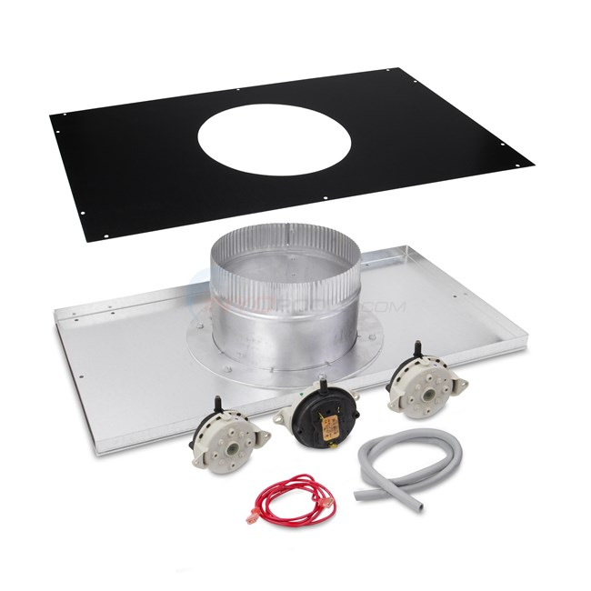 "Hayward Indoor Neg. Pressure Vertical 8"" Vent Adapter Kit - H400FD - UHXNEGVT14001"