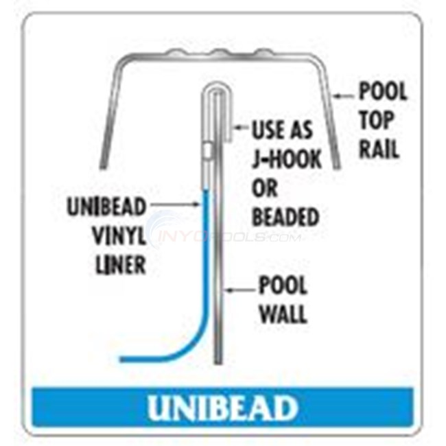 "Swimline 18' x 38' Oval 52"" Depth Unibead Pacific Diamond Standard Gauge Liner - NL948044"