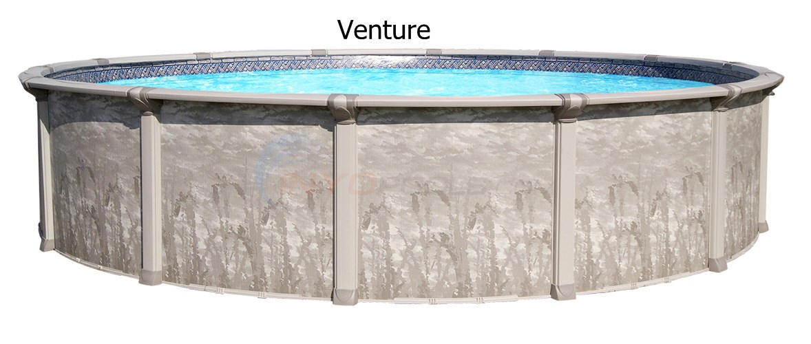 "Venture 33' Round 52"" Hybrid Above Ground Pool (Skimmer Included)"