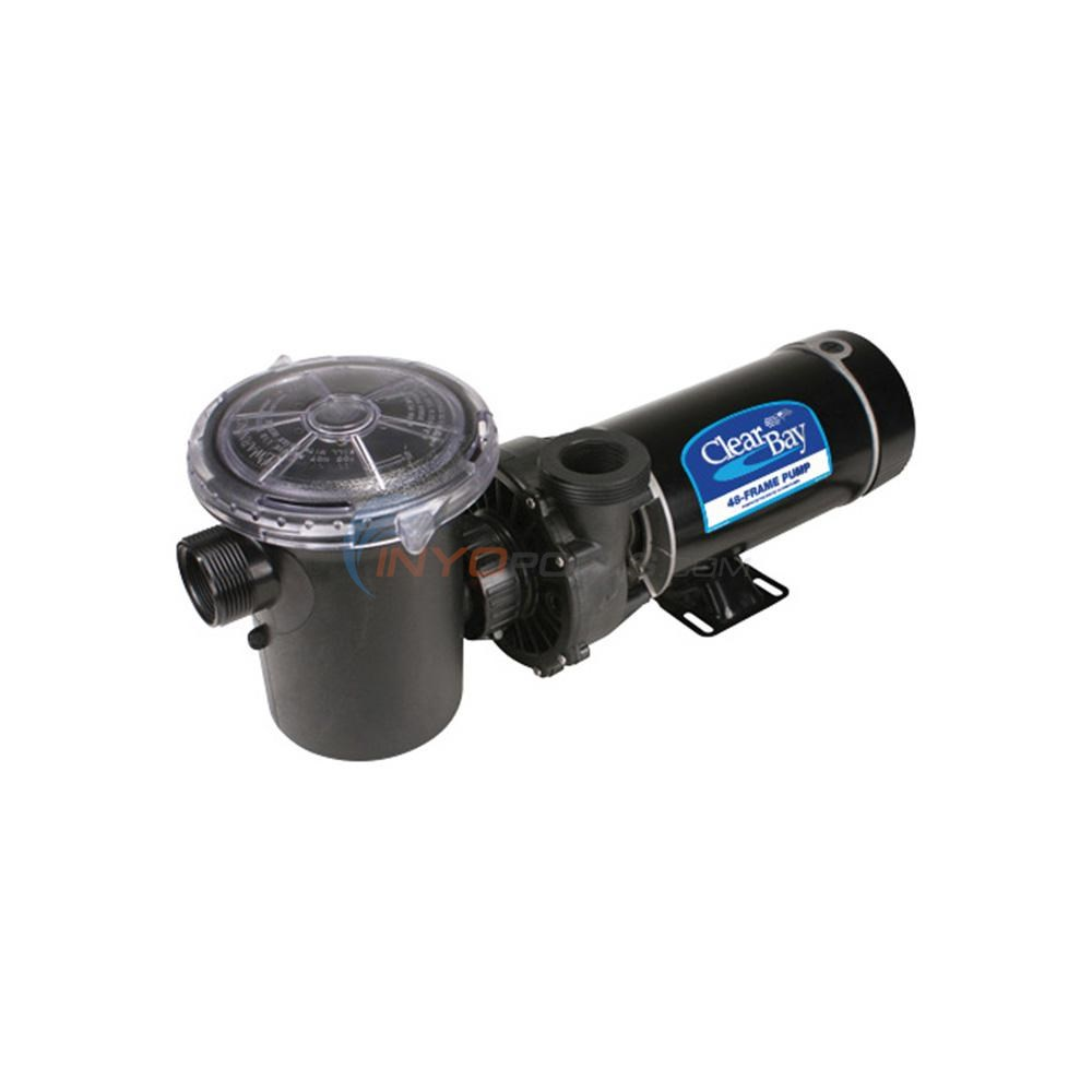 Waterway Clear Bay Pool Pump - 1.5 HP, 115V, 1-Speed, 3' STD Cord, Vertical - PD1150-6