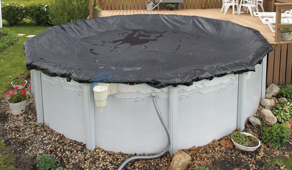 PureLine 8 Yr. Mesh Above Ground Pool Cover 18' x 33'/34' Oval - PL6932