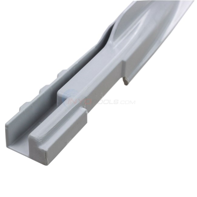 Wilbar Transition Bottom Rail - Grey End of Straight Side Section 15'D Left (Single) - 1081533000030