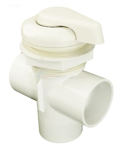 "Diverter Valve 2"" Vertical 2-port, 5-scallop White"