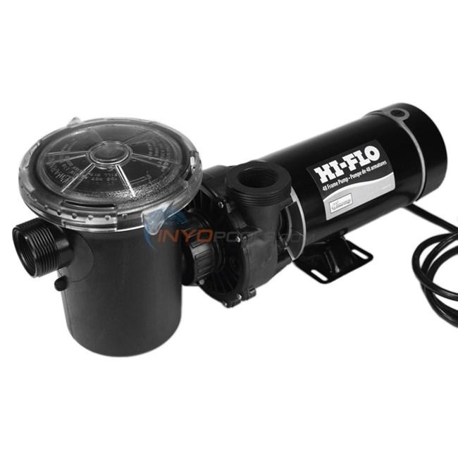Waterway Hi-Flo II Pool Pump - 1.5 HP, 115V, 1-Speed, 3' 3-Prong Cord, Vertical Discharge - PH11506