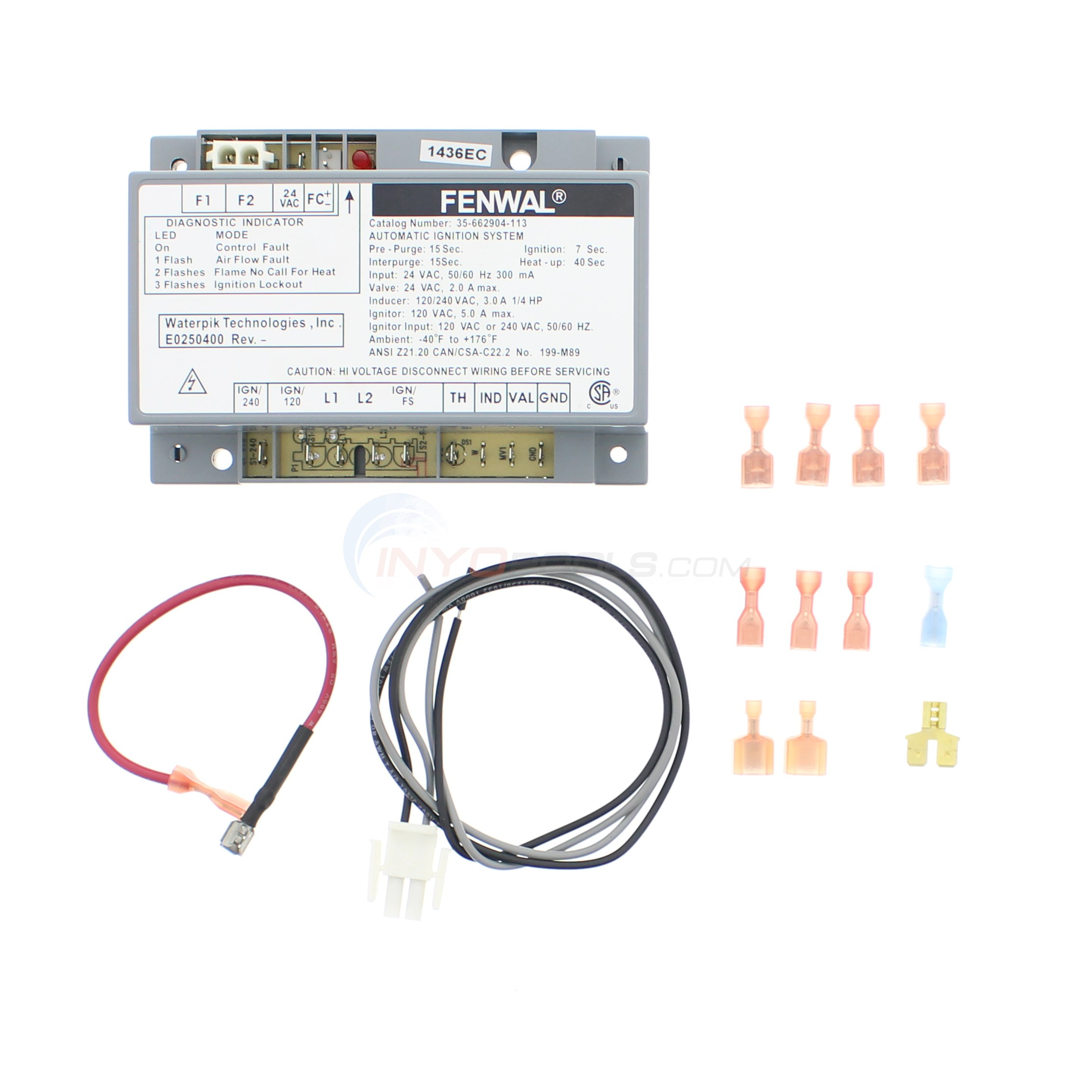 "No Longer Available IGNITION CONTROL Replace With <a class=""productlink"" href=""http://www.inyopools.com/Products/07501352019439.htm"">6200-03</a>"