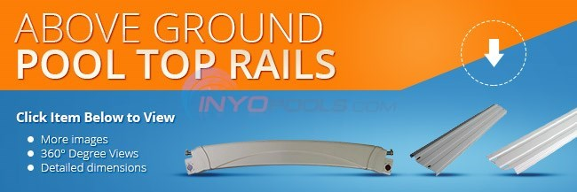 Top Rails for 33' Round Above Ground Pools (Resin) Diagram
