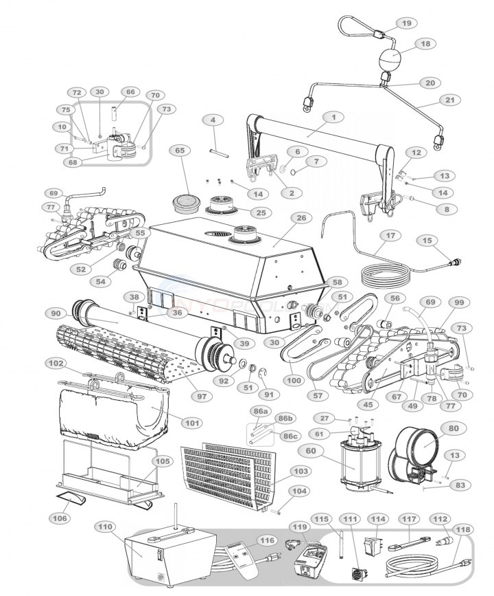Aqua Products AquaMAX BiTurbo Parts Diagram