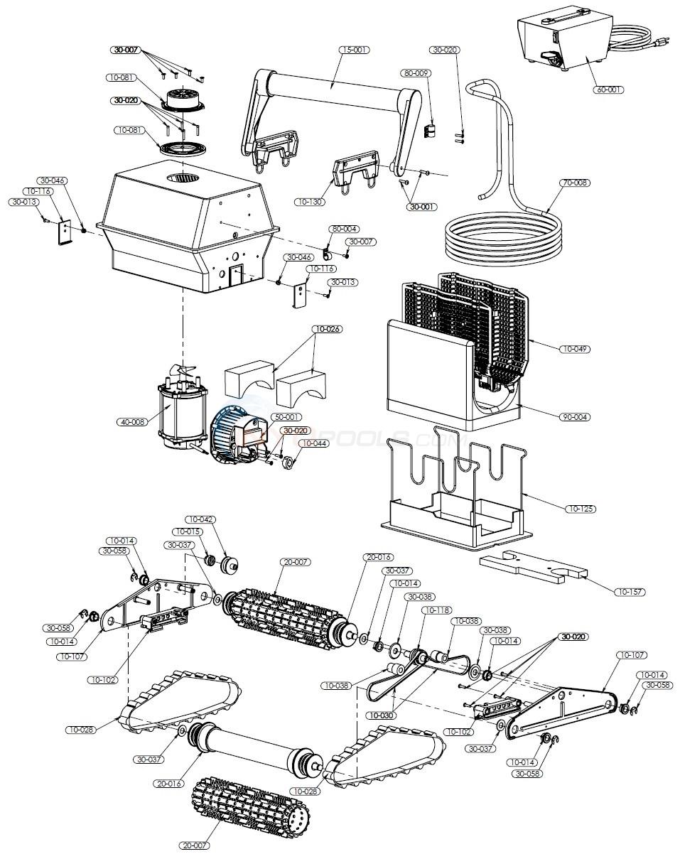 aquabot classic parts inyopools com rh inyopools com Aquabot Turbo T2 Parts Diagram Aquabot Pool Cleaner