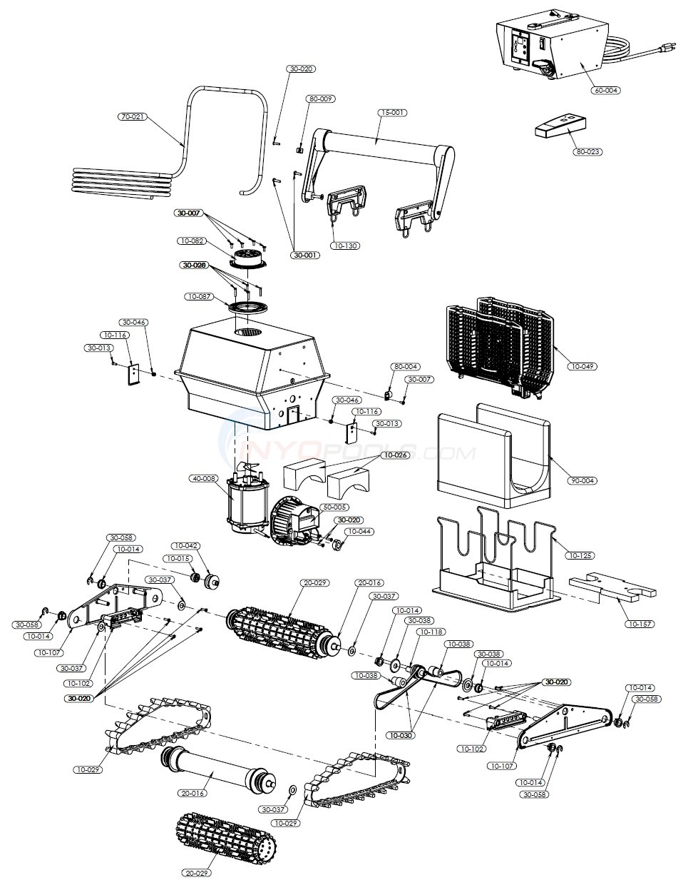 Aquabot Turbo RC Parts Diagram