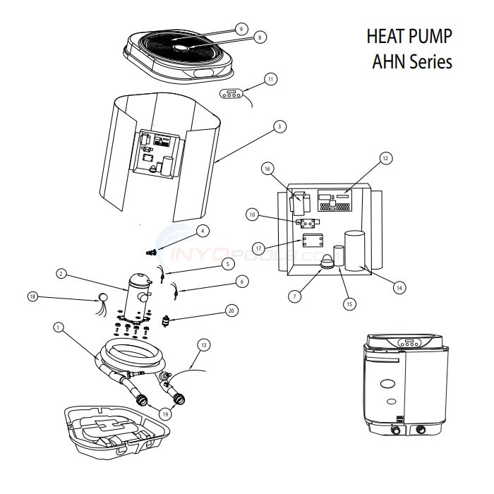 AquaPro AHN Series Heat Pump Diagram
