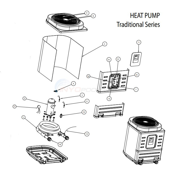 AquaPro Traditional Series Heat Pump Diagram