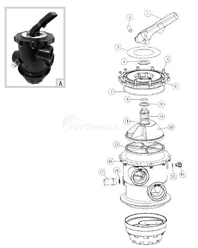 "Astral 22492 Top Mount, 2"" Cantebric Valve Diagram"
