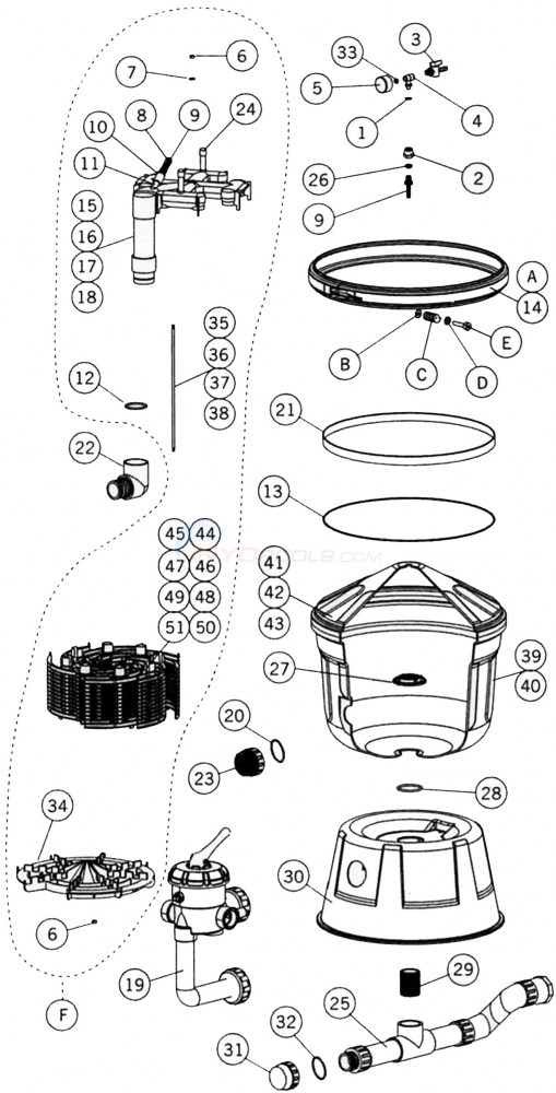 Astral Clarity D.E. Parts Diagram