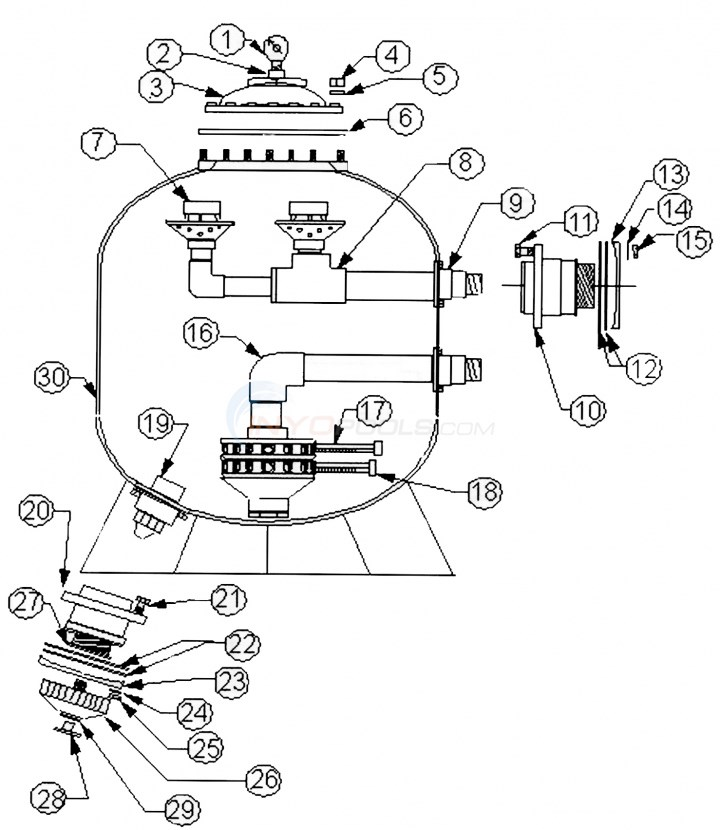 "Baker Hydro HRV 48"" Commercial Series (Prior to 2007) Parts Diagram"