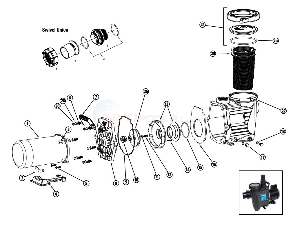 waterway champion 56 frame pump parts inyopools com  waterway champion wiring diagram #3