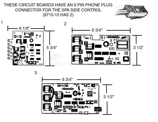 Balboa with 6 Pin Phone Plug Connector  Diagram