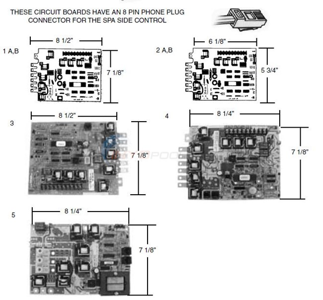 balboa with 8 pin phone plug connector parts. Black Bedroom Furniture Sets. Home Design Ideas