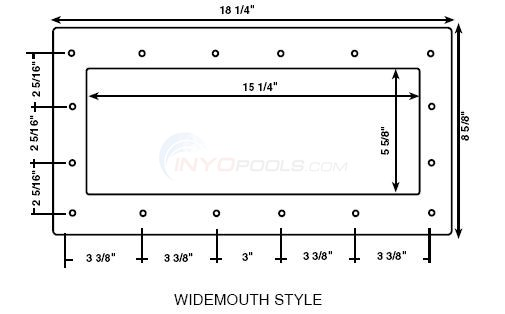 Custom Molded Products Faceplates - Widemouth Style Diagram
