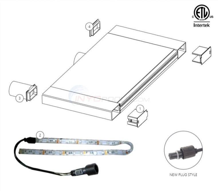 CMP Brilliant Wonders LED Waterfall Parts Diagram