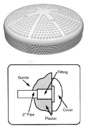 "Custom Molded Products 6"" Gunite Suction Fittings Diagram"