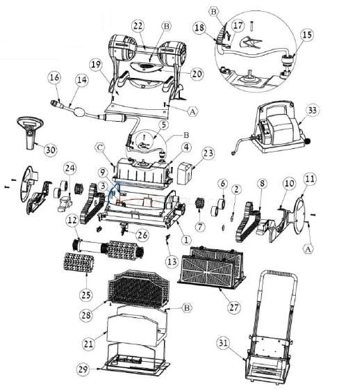 maytronics dolphin dx6 cleaner parts inyopools commaytronics dolphin dx6 cleaner diagram