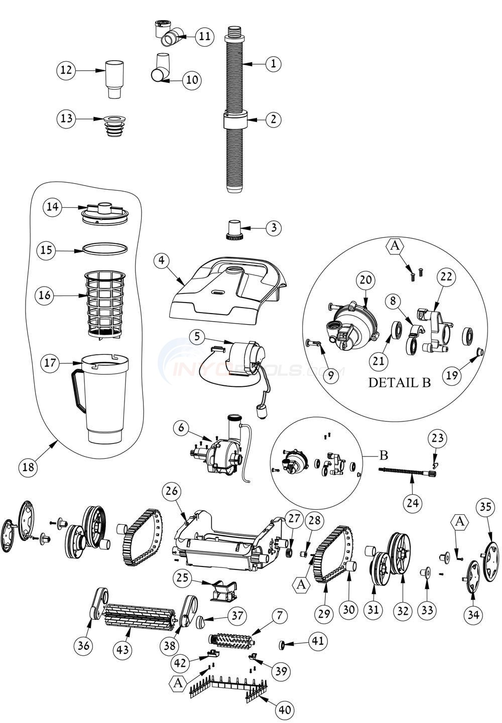 Maytronics Dolphin Hybrid DX2 Parts Diagram