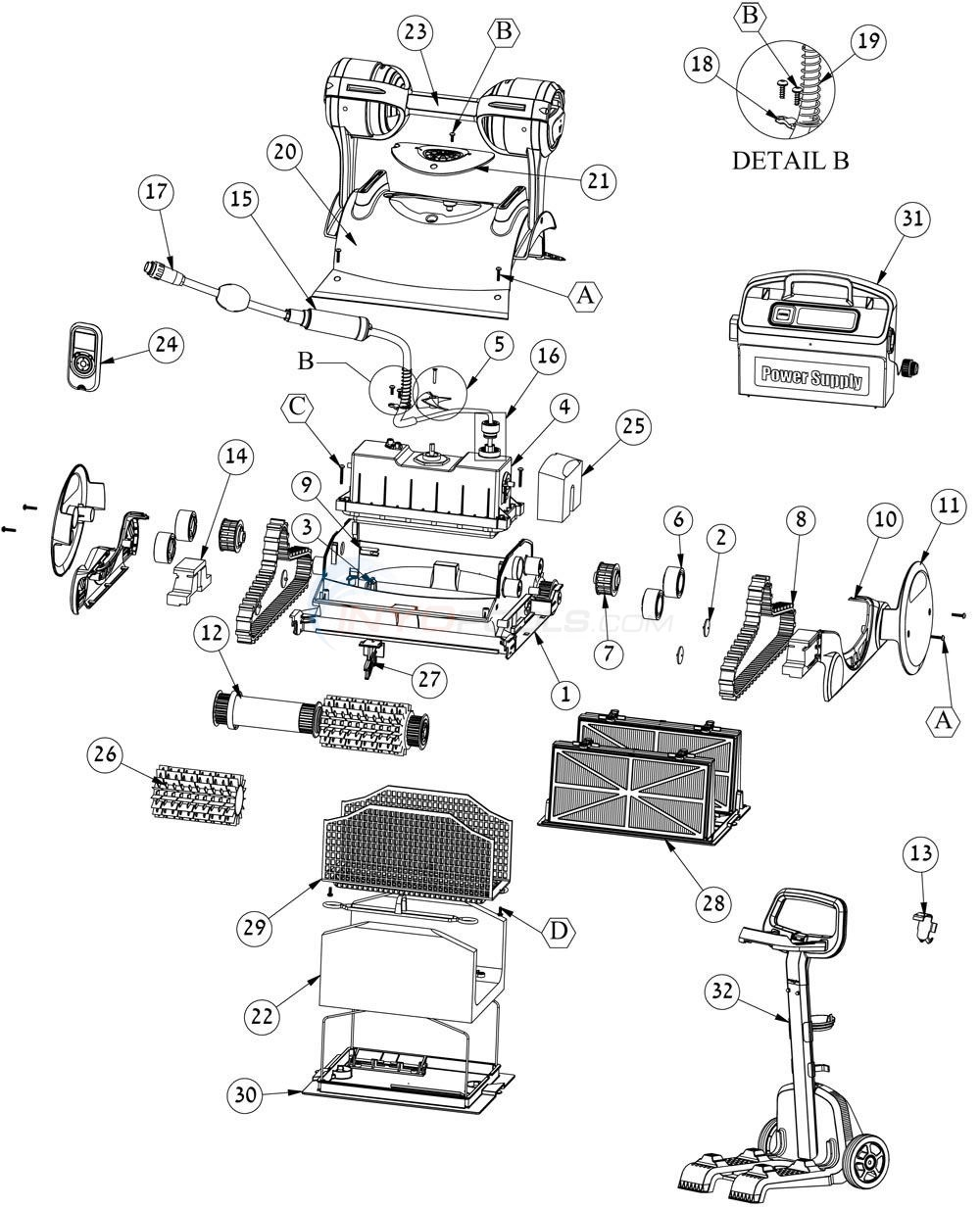 Maytronics Dolphin Wave 75 Parts Pool Cleaner Wiring Diagram